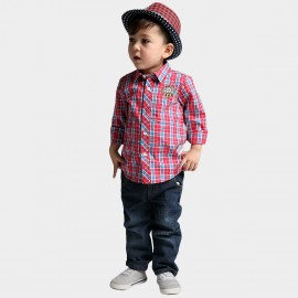 Bobdog Plaid Red Shirt (B41SC651)