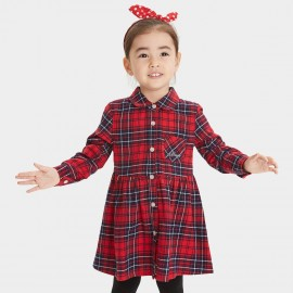 Bobdog Plaid Navy Dress (B53SC303)