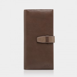 BVP Classic Pocket Brown Wallet with Clutch (Q507)