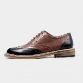 Herilios Contrasting Oxford Brown Lace Up With Stitched Soles (H4305D32)