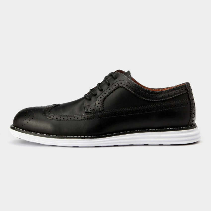 Mens Comfortable Black Leather Shoes With Comfortable Rubber Soles
