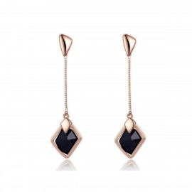 Caromay Dawn Even Long Rose Gold Earrings (E0175-2)