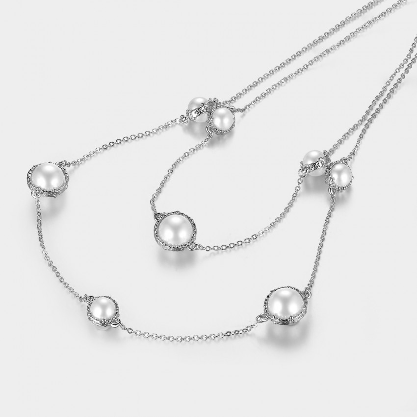 Caromay Passed Cloud Silver Long Chain (X0530)