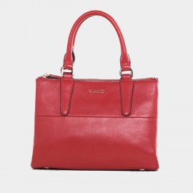 Cannci Concave-Side Leather Wine Top Handle Bag (B11439)