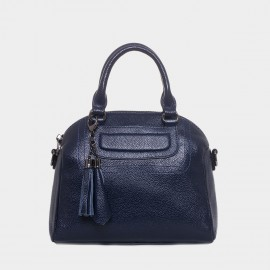 Cannci Padded Accent Hanging Decoration Leather Navy Top Handle (M51540-H)