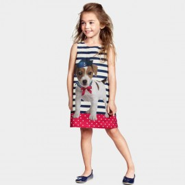 Yakuyiyi Classic Doggy Stripe Dress (50511T063)