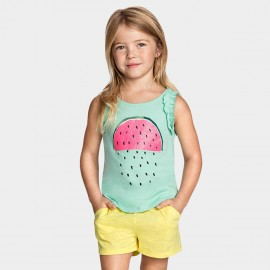 Yakuyiyi Watermelon Raindrops Green Shirt (50514T048)