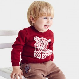 Pepevega Bear Graphic Red Knit (A54BF179)