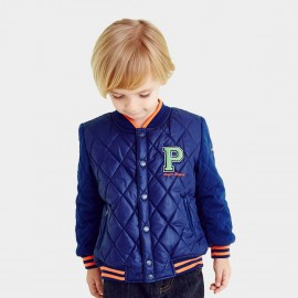 Pepevega Diamond Quilted Blue Jacket (A54SM503)