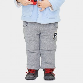 Pepevega Letter P Thickened Grey Pants (A54ZK864)