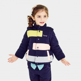 Pepevega Funnel-neck Colorblock Navy Gilet (A54ZM210)