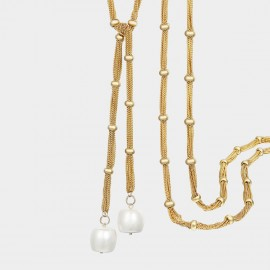 SEVENTY 6 A Romantic Date Gold Long Chain (7217)