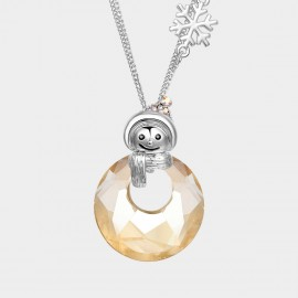 SEVENTY 6 Christmas Snowman Champagne Long Chain (7274)