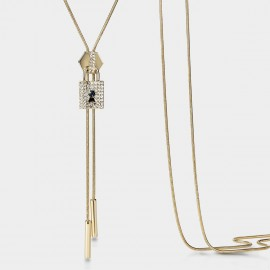 SEVENTY 6 Lucky Lock Gold Long Chain (7991)