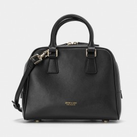 Jessie & Jane Solid Classic Leather Black Top Handle (TMJ15FF1219)