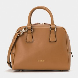 Jessie & Jane Solid Classic Leather Brown Top Handle (TMJ15FF1219)