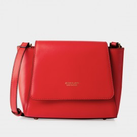 Jessie & Jane Trapez Messenger Leather Red Satchel (TMJ16SF1560)