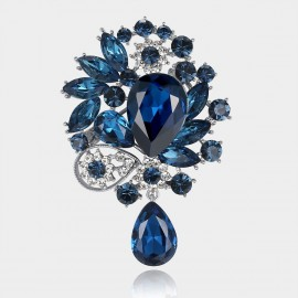 Caromay Ocean Tears Blue Brooch (T0163)
