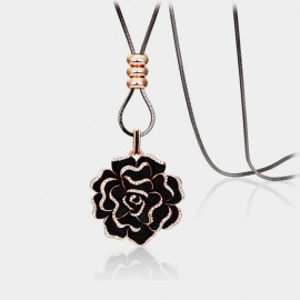 Caromay Valentine Rose Black Long Chain (X1192)