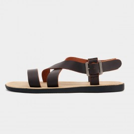 Herilios Crossover Casual Brown Sandals (H3105L02)