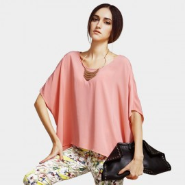 Vanilla Chocolate Pure Cape-Style Pink Top (V622156889)