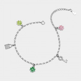 SEVENTY 6 Love In Early Spring Rainbow Anklet (3574)