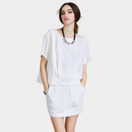 Vanilla Chocolate Perfect Inverted Style Off White Tee (V622126581)