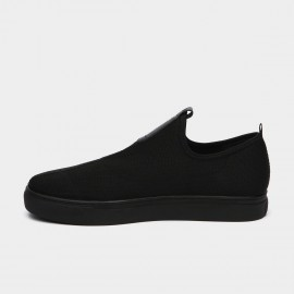 Jady Rose Mid Taping Leather Black Sneakers (16DR10080)