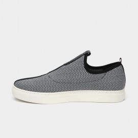 Jady Rose Mid Taping Leather Grey Sneakers (16DR10080)