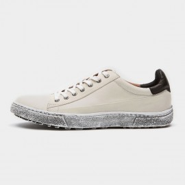 Herilios Dirt Crepe Sole Sheepskin White Sneakers (H6105D57)