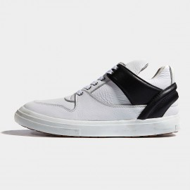 Herilios Contrastive Strap Cuff Leather White Sneakers (H6305G92)