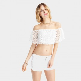 HaoYouDuo Flowers White Top (24203062)