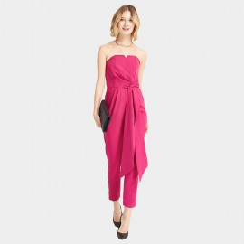 HaoYouDuo Strapless Rose Jumpsuit (24204030)