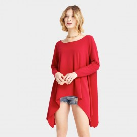 HaoYouDuo Poncho Red Top (25103032)