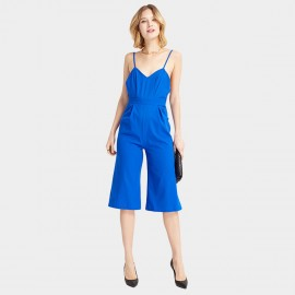 HaoYouDuo Shoulder Strap Blue Jumpsuit (25204023)