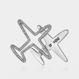 Caromay If You On Plane Silver Brooch (T0243)