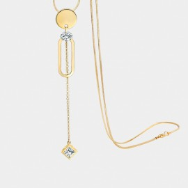 Seventy 6 Constant Mood Gold Long Chain (7507)