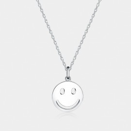 Seventy 6 Smiling Face White Necklace (12110)
