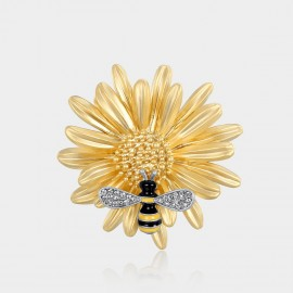 Caromay Working Bee Champagne Gold Brooch (T0218)