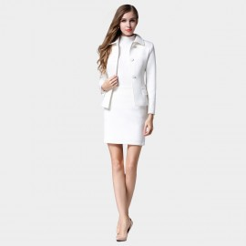 SSXR Professional Business Waist Trimming White Set (7052)