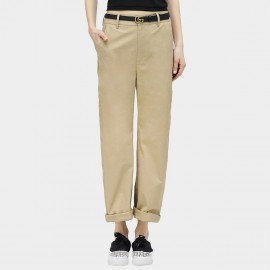 Cocobella Loose Fit Straight Cut Rolled Legs Khaki Pants (PT311)