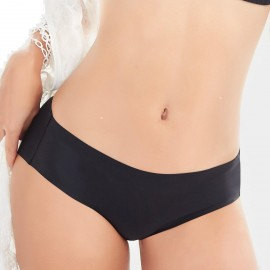 Olanfen Hi Cut Smooth Invisible Black Pantie (K8018)