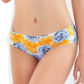 Olanfen Hi Cut Smooth Invisible Yellow Pantie (K8018)