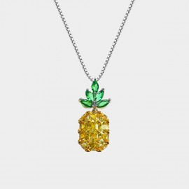 Caromay Pineapple Champagne Gold Necklace (X1570)