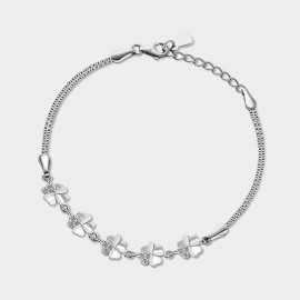 SEVENTY 6 Flowers In Dream Silver Bracelet (3856)