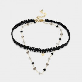 SEVENTY 6 Be With Me Gold Necklace (12357)