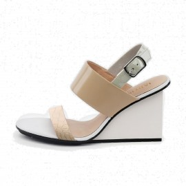 Jady Rose Wedged High Heel Apricot Sandals (17DR10258)