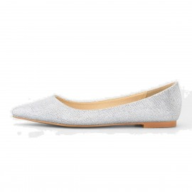 Superelephant Pointed Head Silver Flats (CH3255)