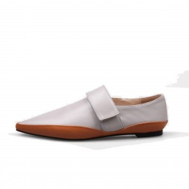 Jady Rose Pointed Toe Contrasting Sole Grey Flats (17DR10298)