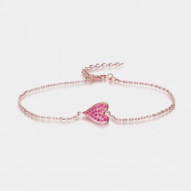Seventy 6 Loving Heart Rose Bracelet (3884)